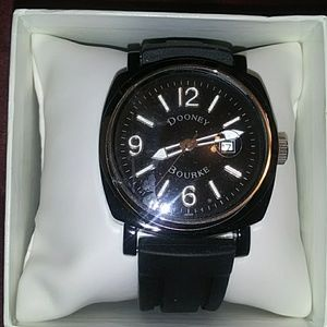 Dooney & Bourke black sport watch
